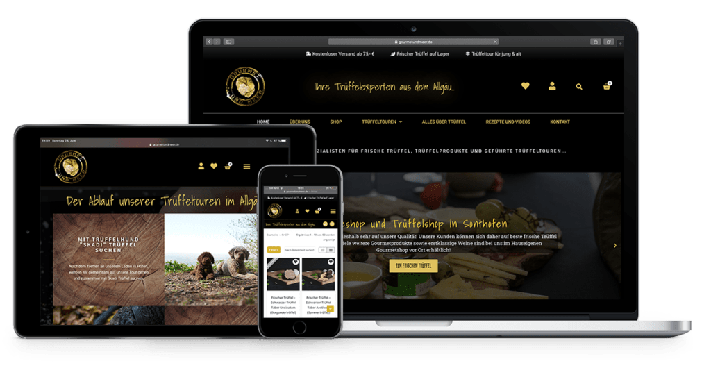 Onlineshop Webshop für Lebensmittelhändler Trüffelshop